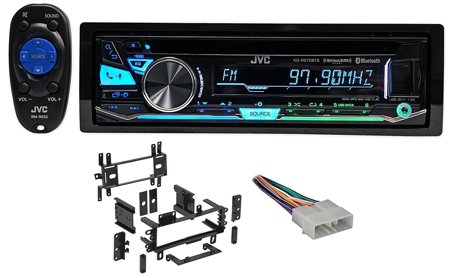 Cheap Jvc Car Stereo Bluetooth Find Deals About Cd Player Wiring Harness Wire Adapter For Sony Get Quotations Package Kd R860bt Receiver With Am Fm