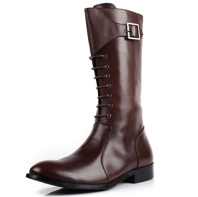 Men Knee High Boots Cr Boot