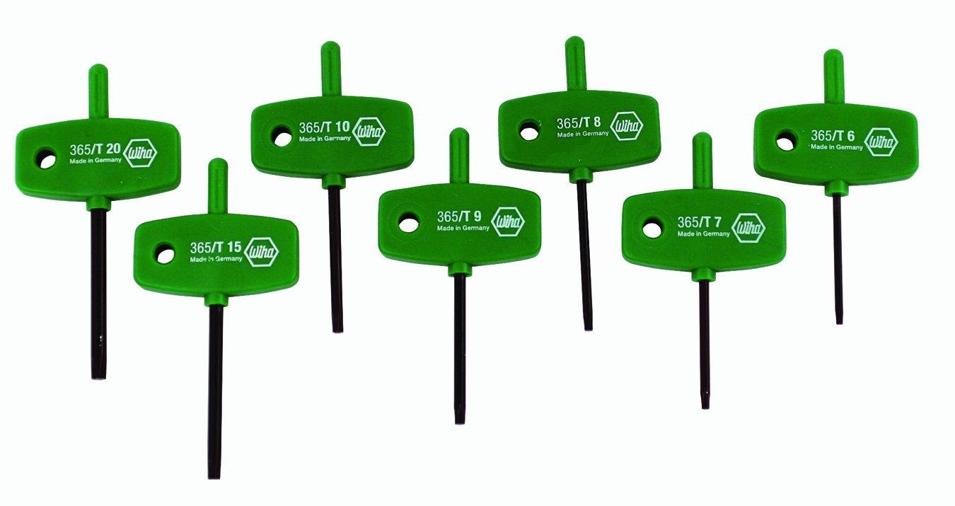 Wiha 36591 Torx Wing Handle Set, T6, T7, T8, T9, T10, T15, T20, 7-Piece Set