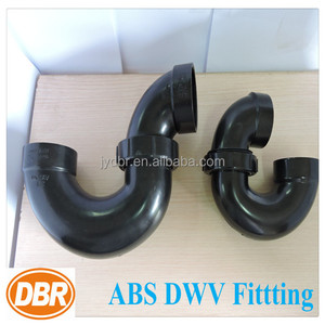 China abs pipe fitting wholesale 2 inch p-trap w/solvent weld joint abs plastic drainage pipe/pvc pipe joints