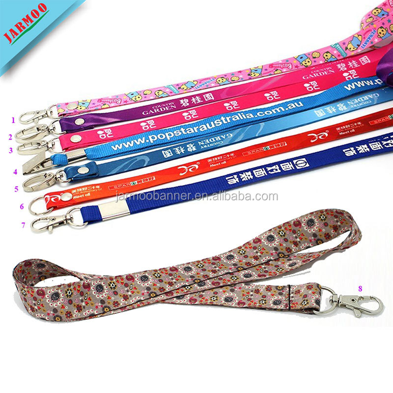 Custom Printed Neck Strap Lanyard Sling Id Badge Holders Lanyard And Pvc Name Card Polyester Keychain Lanyard