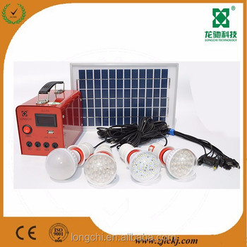 5W12V Mini Solar Energy System for home lighting with LCD