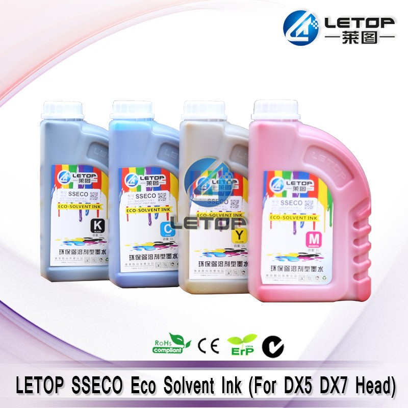 Best Price High Quality! Inkjet printer Dx5 Dx7 head Letop SSECO eco solvent printer ink