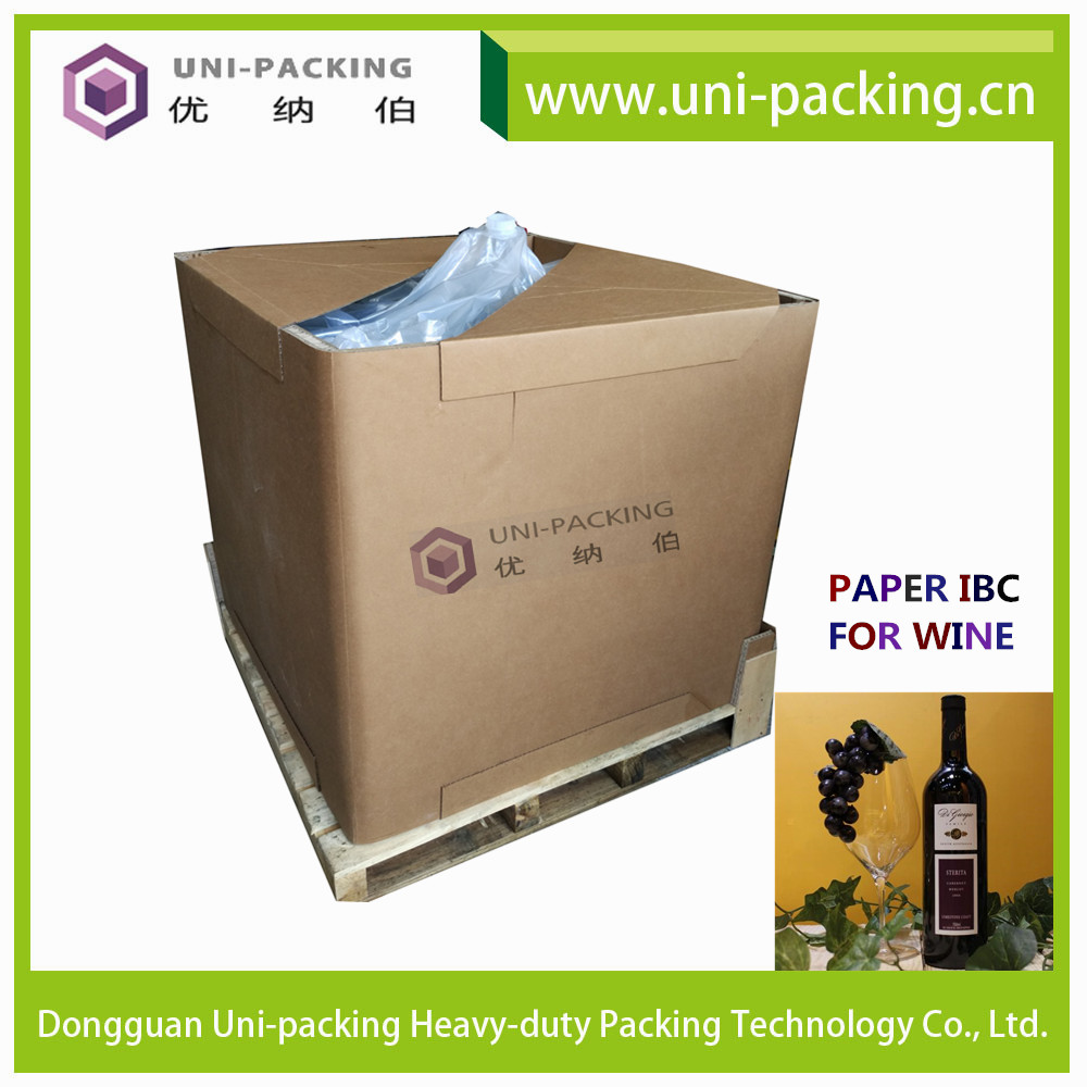 1000L Foldable Shipping Box liquid Paper IBC, Disposable Square Paper IBC