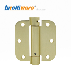 3.5 Inch Brushed Brass Finished Spring Door Hinge