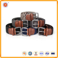 Low price fashionable polyester woven waist belt for men/women