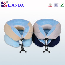 U-shape memory foam traveling cooling gel neck pillow
