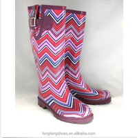 Laides horse riding china made rubber rain boots wholesaler