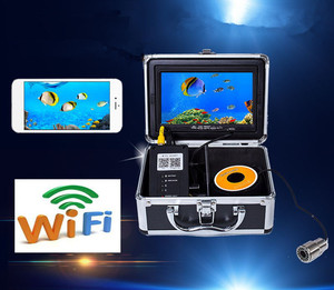 WiFi Wireless Fish Finder Fishing Camera Cheap Price 50M 1000TVL 12pcs LED Underwater Ice Fishing Video Recorder Fish Finder