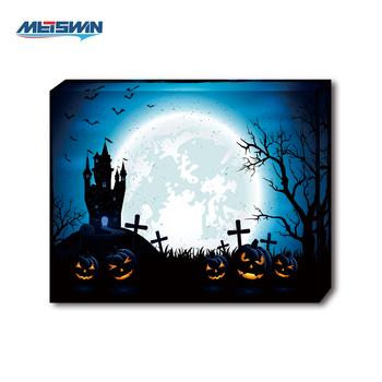 2019 Halloween Theme Led Lighting Art Painting Art Painting Canvas