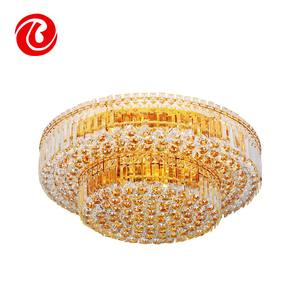 Hot sale luxury iron beaded ball hanging crystal ceiling chandelier