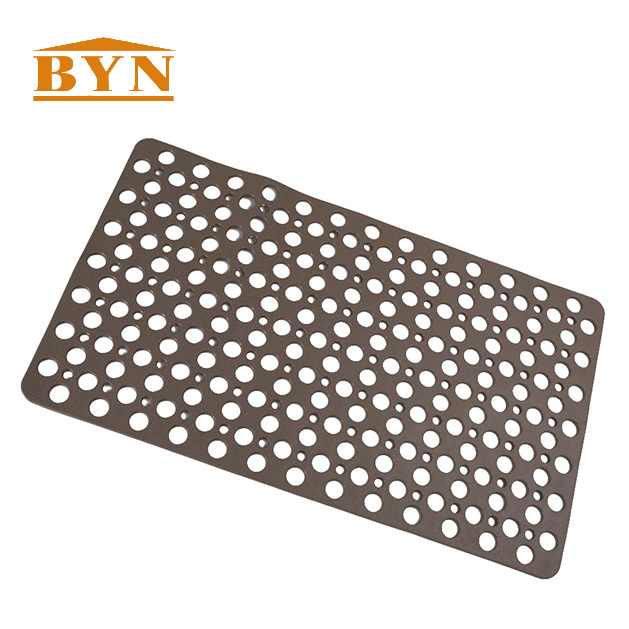 Hot Eco-Friendly Bathroom Rubber Sheet Floor Mat Custom PVC Backing For Toilet