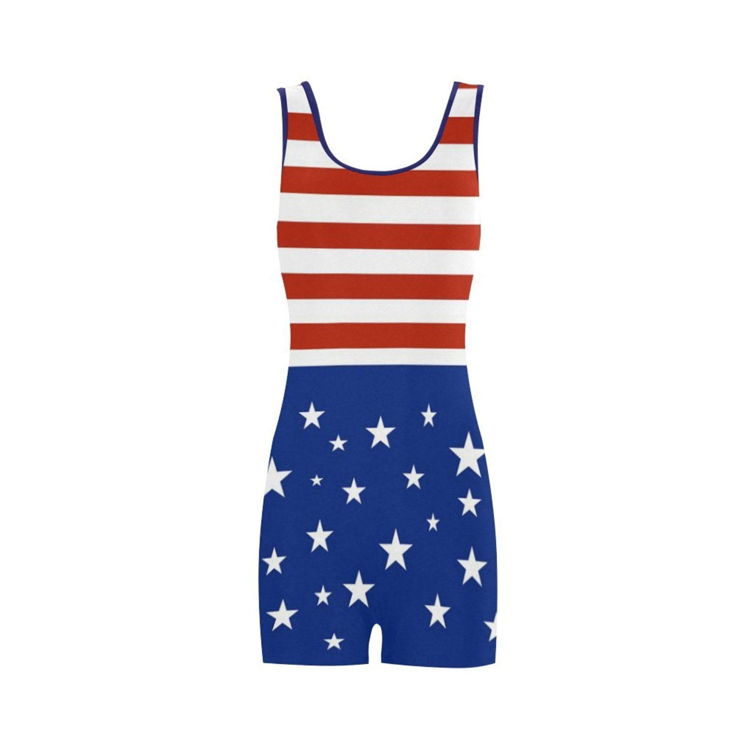 461d60cb4c5b9 Get Quotations · Find Arts Customized Red White And Blue Stripes And Stars Classic  One Piece Swimwear Swimsuit Bathing