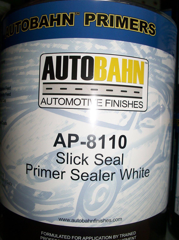Autobahn AP-8110 1 Gallon White Slick Seal Primer Sealer Kit Wholesale Auto Paints Gallon Auto Car Truck Paint kit Restoration Project Body Shop Repair Touch Up Boat Golf Cart Airplane Aluminum