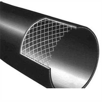 Pe100 Pn75mm Steel Wire Frame Plastic Polyethylene Composite Tube Pipe With  Crushing Resistance - Buy Steel Reinforced Frame Pipe,Steel Wire Plastic