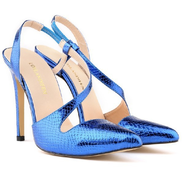 160811a0e73a7 Womens Pointed High Heels Work Dress Pumps Court Ankle Women Shoes Sexy  Sandals US Size 4 5 6 7 8 9 10 11