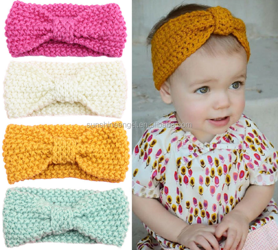 2016 New Fashion Baby Turban Knitted <strong>Headband</strong>