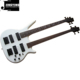Wholesale High Quality Factory Direct Sale White Color Double Neck Bass Guitar