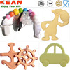 Kean Wholesale Food Grade Silicone Teething Natural Rubber Toys