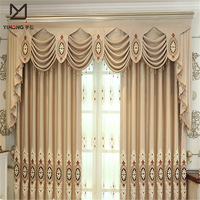 Home made blackout fabric luxury living room curtain , ready made curtain , double layer curtain