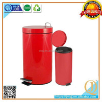 40l Outdoor plastic inner red painted metal trash bin medical waste container