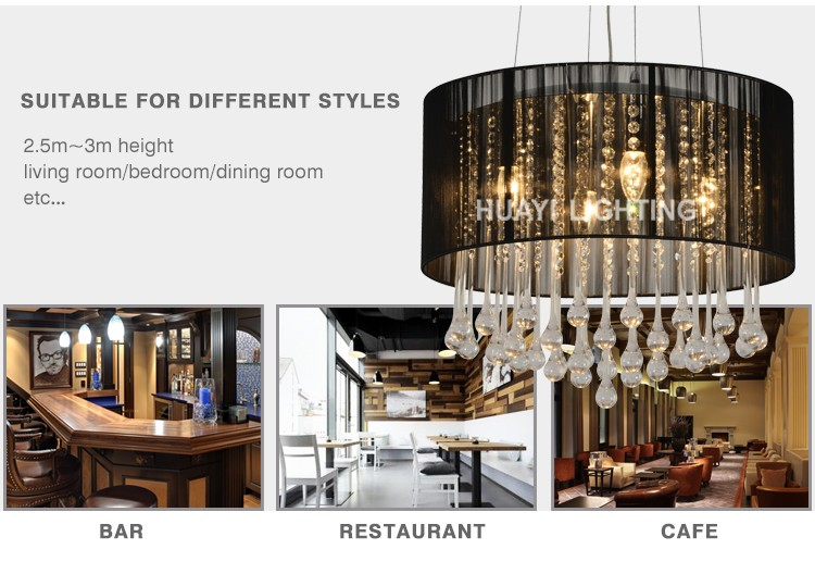 Best selling products hotel E14 hanging crystal chandelier