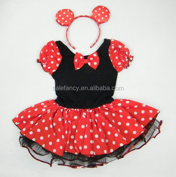 Sexy Mini Minnie Mouse Dress Mickey Mouse Costume For Children Qkc