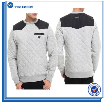 Wholesale Crewneck Quilted Sweatshirts With Pocket - Buy Men's ...
