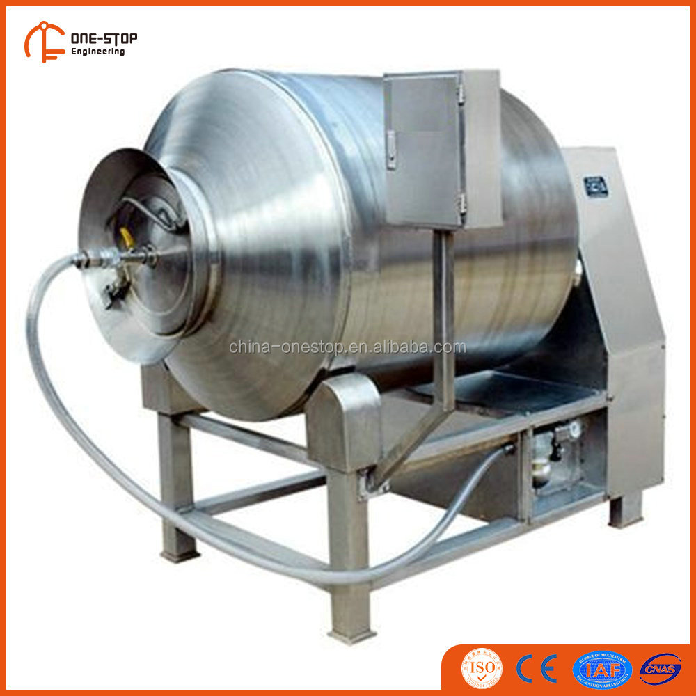 Vacuum tumbler for meat after buffalo slaughter processing line