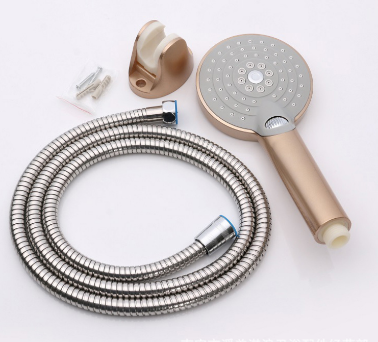 Rose Gold Color ABS Bathroom Shower Head with Massage Sprayer