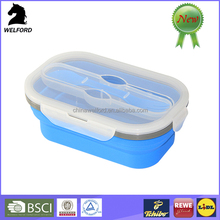 BSCI audit Non-stick double case CE / EU Collapsible silicone food container