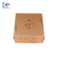 Custom Kraft corrugated paper box for lunch fast food packaging with handle