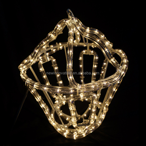 outdoor christmas ornament led neon flex rope light