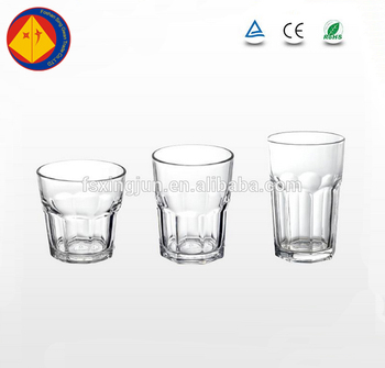 Hot selling products lucid 238g tall and thin drinking glass cup