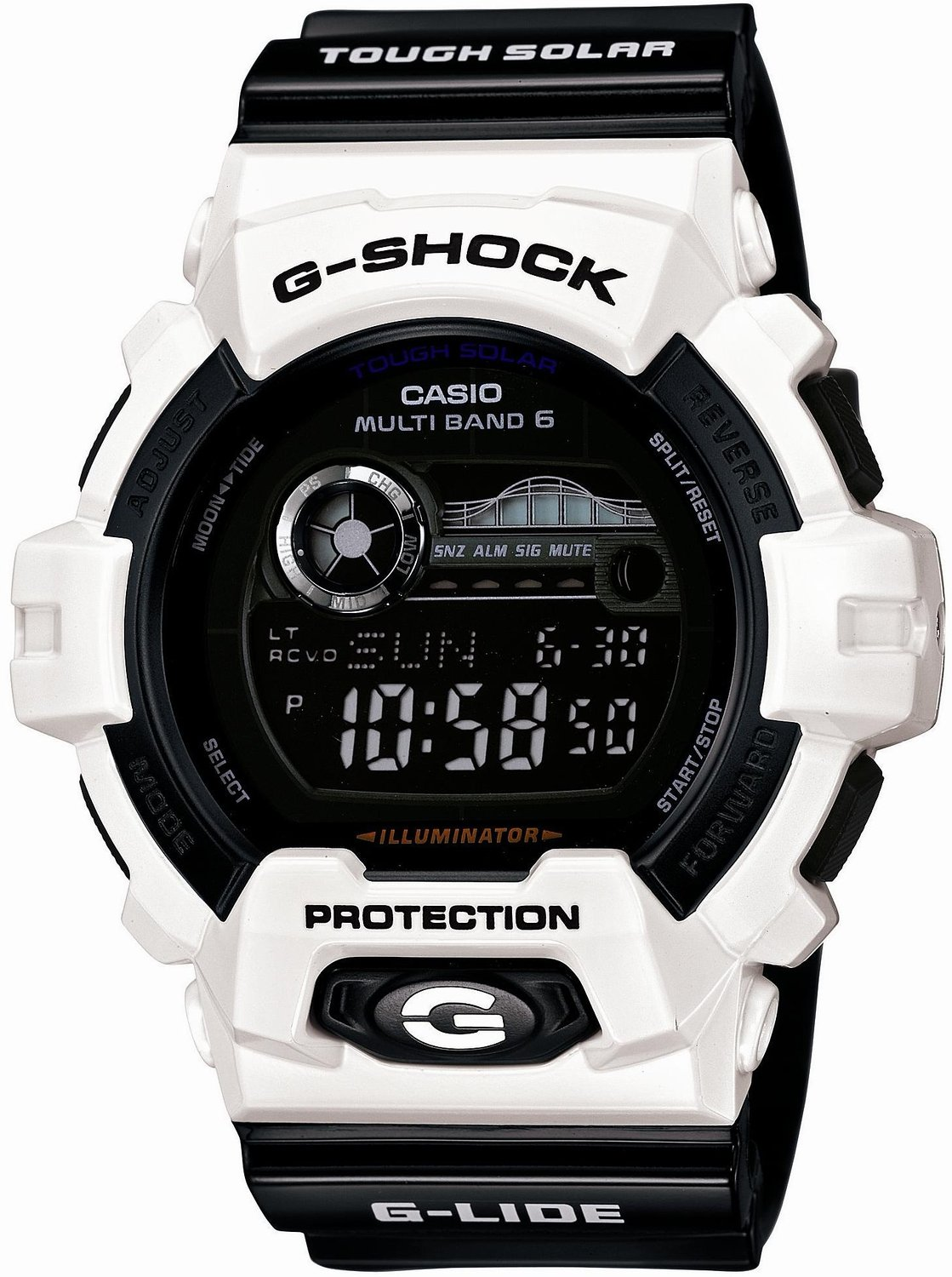 Casio GWX-8900B-7JF G-SHOCK G-GLIDE Digital Multiband 6 Tough Solar Radio Controlled Watch