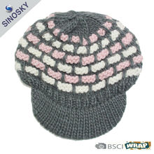 winter knitted pattern baby hat snapback cap