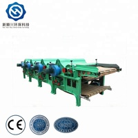 QT410 four roller fabric textile cotton waste recycling machine