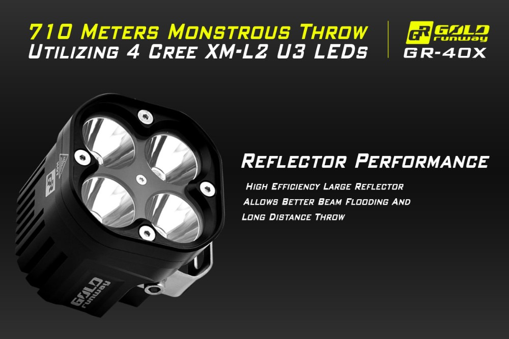 Export Quality Low Cost 40W Ip68 Wholesale Waterproof Offroad Motorcycle Led Fog Light