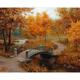CHENISTORY DZ1015 Painting By Numbers Oil Canvas Diy Small Bridge With Wood Frame For Kits