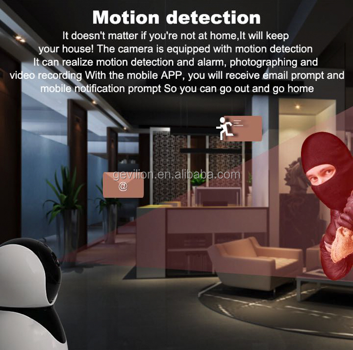 Gevilion 2019 2MP Video Baby Monitor P2P 128G Night Vision CCTV Security Ptz Mini Wireless Wifi Camera