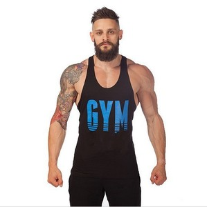 Cotton Sleeveless Tank Top Men Fitness Gold Gym Sport Bodybuilding Gym singlets