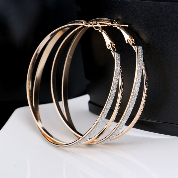 Fashion Hip Hop Jazzs Nightclubs Oversized Exaggeration Bamboo Hoop Earrings