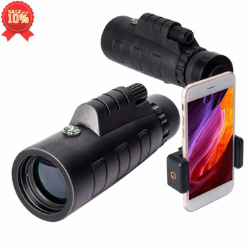 Monocular Scope with Phone Clip and Tripod 40x60 High Quality Phone Monocular Telescope for Hiking/Wildlife/Live Concert