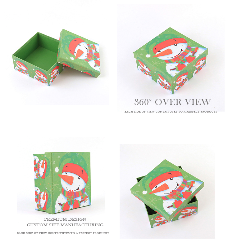 Hot Sale Customized Christmas GIft Box Carton Paper Box With Lid