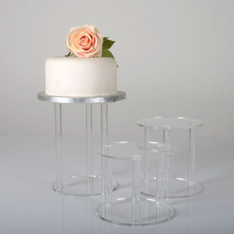 New arrivel custom 3 tier wedding gift wholesale acrylic cake dome display