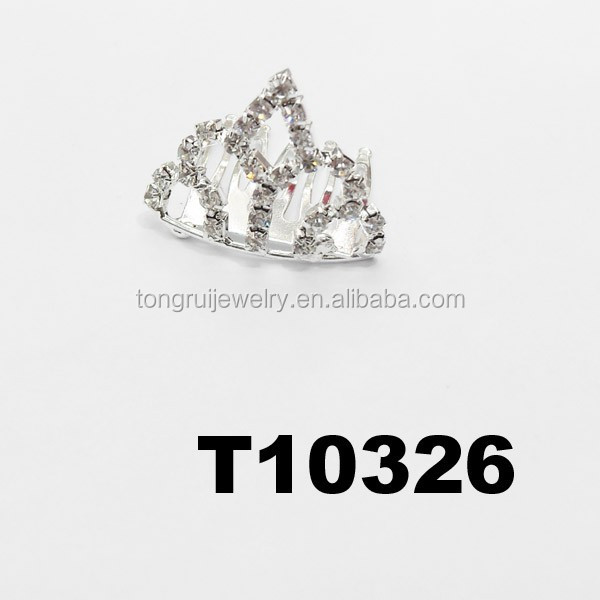 wholesale mini rhinestone prince baby crowns for kids
