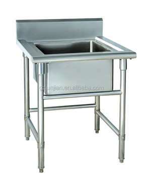 Single Bowl Commercial Stainless Steel Sink