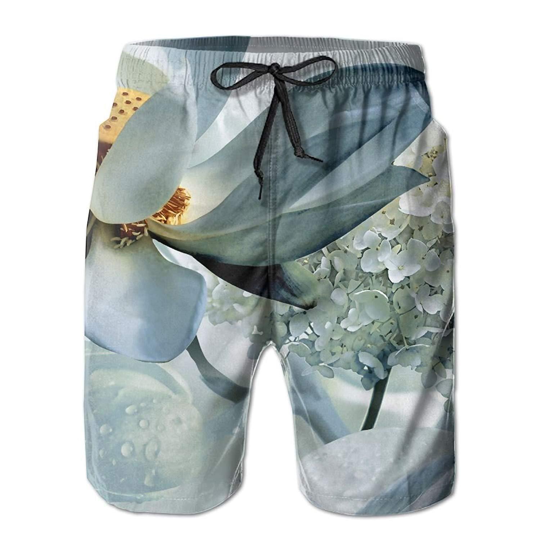 Richard-L Floral Art Design Summer Quick Dry Board/Beach Shorts For Men