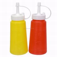 JK16006GA 2-Pack Tip Cap 7-oz/200ml Sauce Oil Liquid Plastic Squeeze Bottle Dispenser