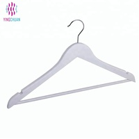 Logo printed hot sale fashion design in clothes display white wood coat hanger